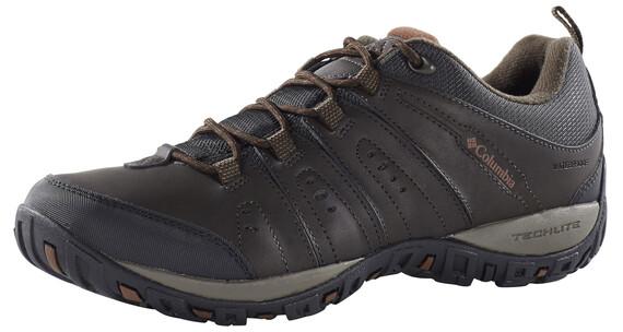 Columbia Peakfreak Woodburn II Shoes Men Waterproof cordovan / cinnamon